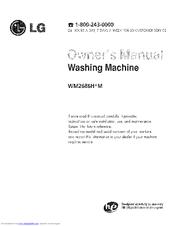 Lg Wm2688hnm Owner S Manual Pdf Download Manualslib
