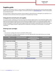 Lexmark CX310 series Supplies Manual