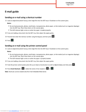 Lexmark CX310 series E-mail Manual