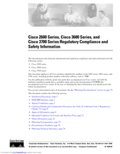 Cisco 3600 Series Safety Information Manual