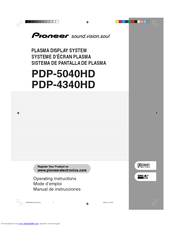 Pioneer PDP-504PU Operating Instructions Manual