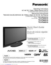 panasonic viera plasma tv manual