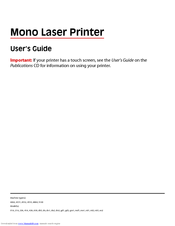 Dell 5330dn - Workgroup Laser Printer B/W User's Manual