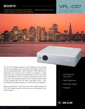 sony superlite vpl cs7 manuals rh manualslib com projetor sony vpl cs7 manual sony vpl-cs7 manual