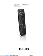 philips perfect replacement srp2003 27 manuals rh manualslib com Philips Universal Remote Manual Cl035a philips srp2003 universal remote control codes