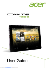 manual usuario tablet acer iconia a100