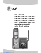 AT&T CL82201 User Manual