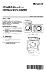 Honeywell H8908ASPST -  Humidistat Control Installation Instructions Manual