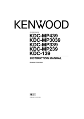 Kenwood Kdc 139 Instruction Manual Pdf Download Manualslib