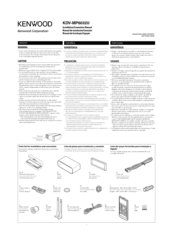 KENWOOD KDV-MP6032U Installation & Connection Manual