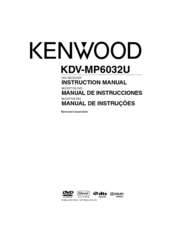 KENWOOD KDV-MP6032U Instruction Manual