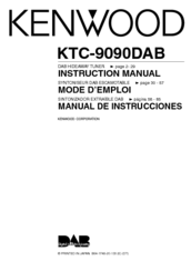KENWOOD KTC-9090DAB Instruction Manual
