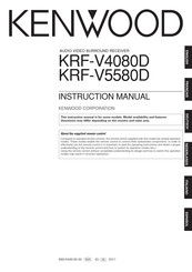 KENWOOD KRF-V5580D Instruction Manual