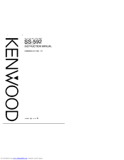 KENWOOD SS-592 Instruction Manual