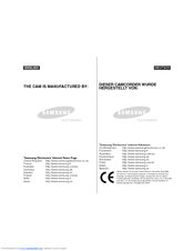 Samsung SC-M105S Owner's Instruction Book