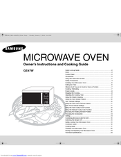 Samsung GE87W Owner's Instructions Manual