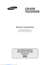 Samsung WS-32A10HW Owner's Instructions Manual