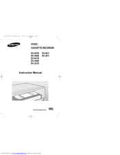 Samsung sv 255B Instruction Manual