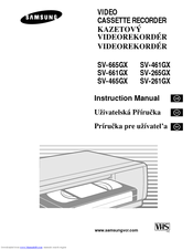 Samsung SV-665GX Instruction Manual
