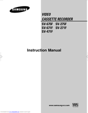 Samsung SV-671F Instruction Manual