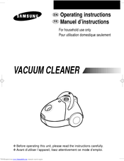 Samsung VAC5913R Operating Instructions Manual