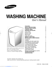 Samsung WA95B3S User Manual