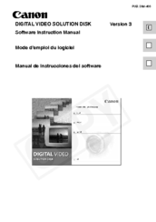 Canon DIGITAL VIDEO SOLUTION DISK Ver.3 Instruction Manual