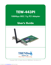 TRENDNET TEW 443PI WINDOWS 7 64BIT DRIVER DOWNLOAD