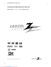 zenith xbr617 installation and operating manual pdf download rh manualslib com Heath Zenith Manual Zenith Ownersmanuals