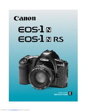 canon eos 1 instructions manual pdf download rh manualslib com canon eos 1 dx user manual canon eos 1 user manual