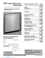 frigidaire 4300 series manuals rh manualslib com Frigidaire Gallery Dishwasher Frigidaire Dishwasher Parts