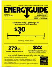 KitchenAid KUDE40FXSS Energy Manual