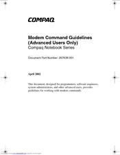HP Compaq NX7400 Command Manual