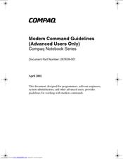 HP Compaq nc6230 Software Manual