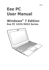 Asus Eee PC 1025C User Manual