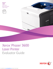 Xerox 3600B - Phaser B/W Laser Printer Evaluator Manual