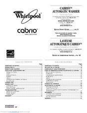 whirlpool wtw6200vw cabrio washer manuals rh manualslib com whirlpool cabrio washer manual top load whirlpool cabrio washer manual error codes