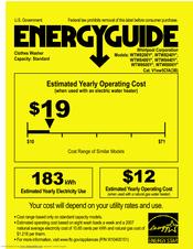 Whirlpool WTW8200YW Energy Manual