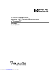 HP Visualize c180 Supplementary Manual