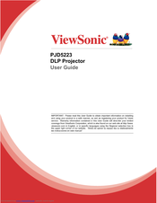 ViewSonic PJD5223 User Manual