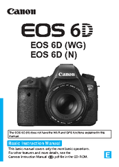 Canon EOS 6D Basic Manual