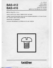 Brother BAS-412 Parts Manual