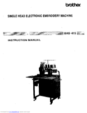 Brother BAS-415 Instruction Manual