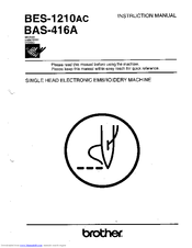 Brother BAS-416A Instruction Manual