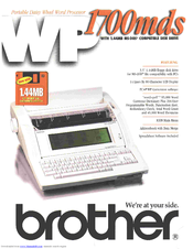 Brother WP-1700MDS Specifications