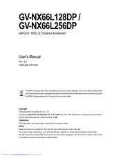 GIGABYTE GV-NX66L256DP DESCARGAR DRIVER