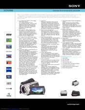 Sony DCR-SR65 - 40gb Hdd Handycam Camcorder Specifications