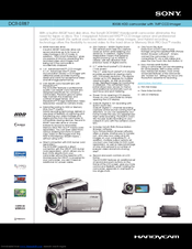 Sony DCR-SR87 - 80gb Hdd Camcorder Specifications