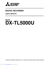 Mitsubishi Electric 16CH DIGITAL RECORDER DX-TL5000U User Manual