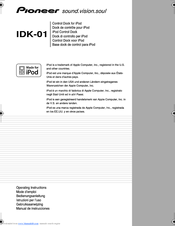 Pioneer IDK-01 - Universal iPod Dock Operating Instructions Manual